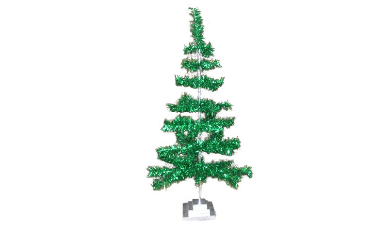 Metallic Green Aluminum Tinsel Tree