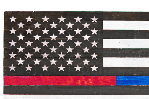 Firefighter's & Police American Flags