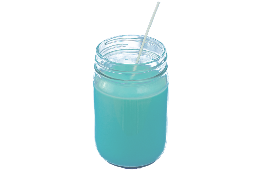 Blue Mason Jar Candle