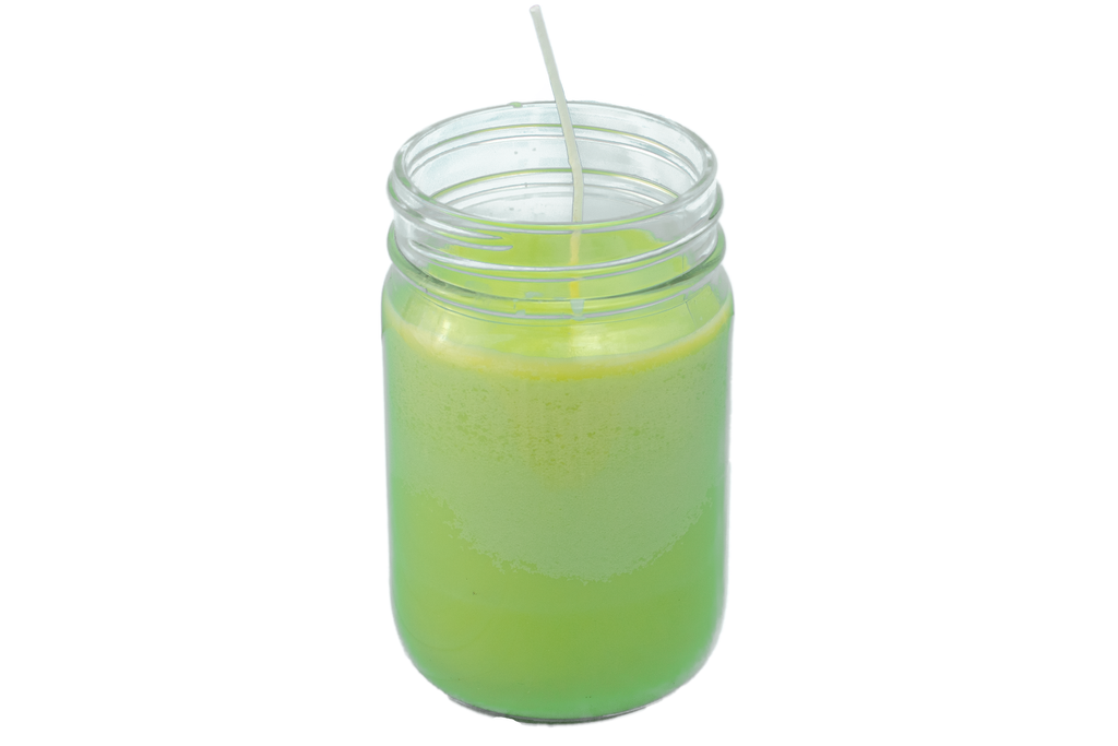 Green Mason Jar Candle