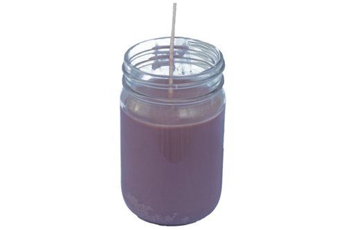 Purple Mason Jar Candle