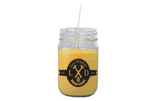 Yellow Mason Jar Candle