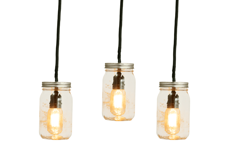 Hang some our Mason Jar Pendant Lights this holiday season and warm up your living spaces with a rustic and vintage new look!