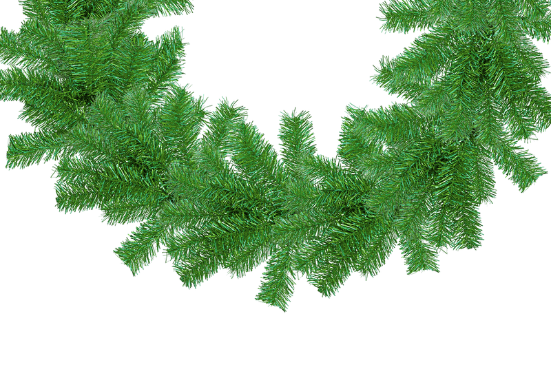 Metallic Green Tinsel Christmas Wreaths