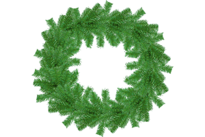 18IN Shiny Metallic Green Tinsel Christmas Wreaths!    Decorative 18in Diameter door hanging wreaths made by Lee Display.