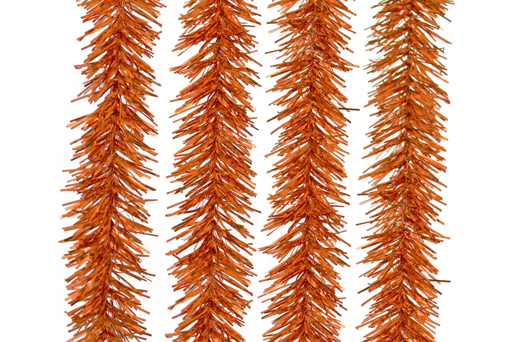 Metallic Orange Tinsel Garlands for your Halloween Decorations made by Lee Display