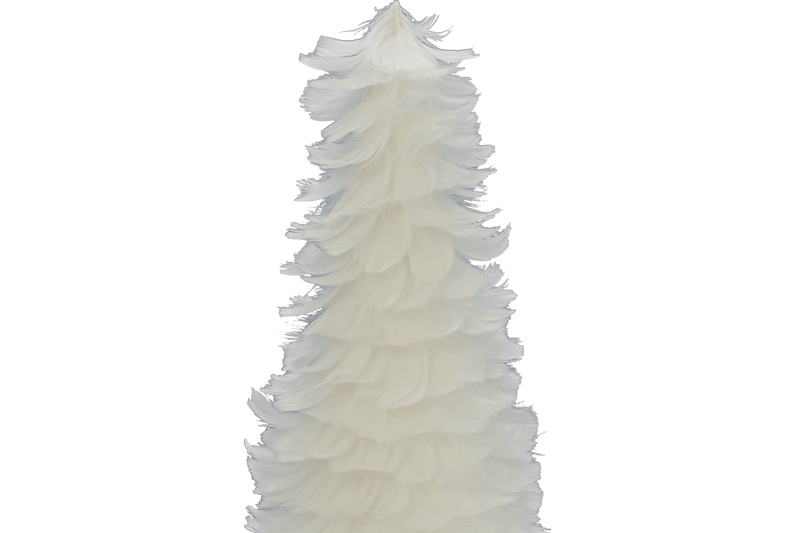 White Goose Feather Christmas Tree Cone