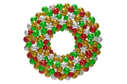 Multi-Color Ball Ornament Wreaths made by Lee Display
