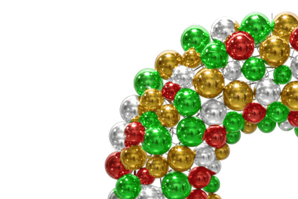 Multi-Color Ball Ornament Wreath