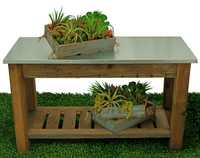 Excellent for your home and garden! Use these flower boxes in your garden as topiary boxes and plant flowers and succulents in them. You can simply pour dirt directly into the box and plant your favorite type of flowers. Or you can display them inside your home; on top of shelves and cabinets for home decor accents and storage crates.    Use for potting your favorite plants and succulents - Lee Display