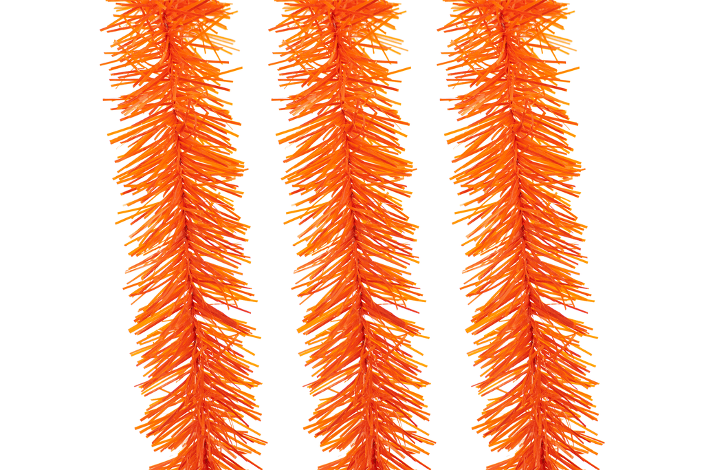 Orange Tinsel Garlands for your Halloween Decorations!