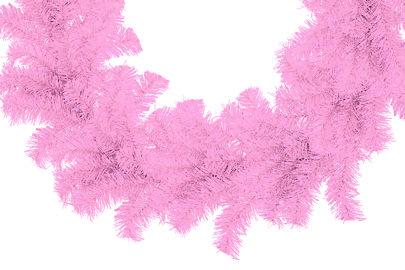 Pink Tinsel Christmas Wreaths