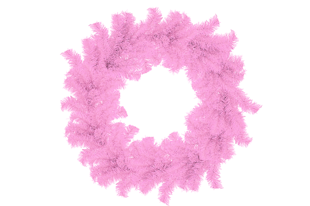 Pink Tinsel Christmas Wreaths on Sale by Lee Display.