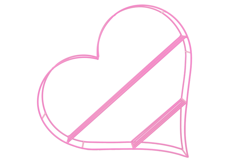Pink Hanging Heart Book Shelf