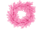 18IN Shiny Pink and Silver Tinsel Christmas Wreaths on sale by Lee Display