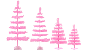 Pink Tinsel Christmas Tree
