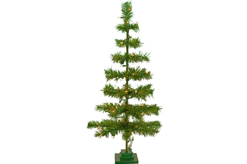 Lee Display's Alpine Green Tinsel Christmas Trees now available to order Pre-Lit with Mini Incandescent Lights! Buy a new Tinsel Tree and we string the lights on for you