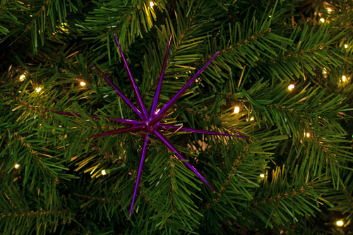 8in Purple Christmas Starburst Ornament decorations sold by Lee Display