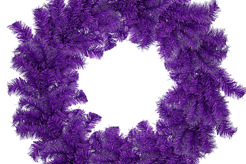 Purple Tinsel Christmas Wreaths