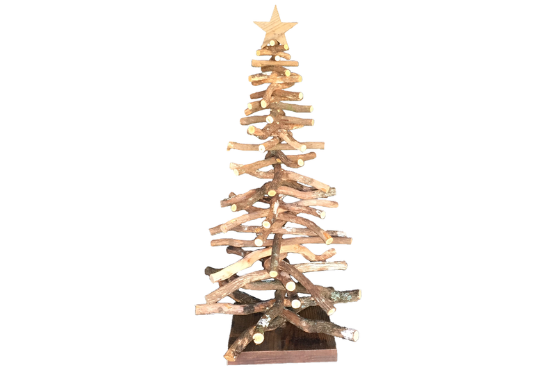 Real Birch Branch Wood Christmas Tree made by Lee Display and sold in the US