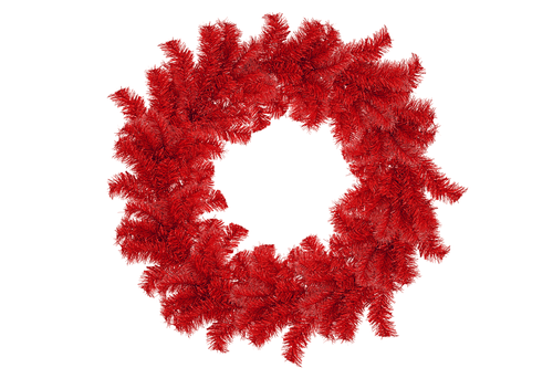 18IN Shiny Red Tinsel Christmas Wreaths!    Decorative 18in Diameter door hanging wreaths made by Lee Display.
