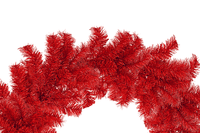 Red Tinsel Christmas Wreaths