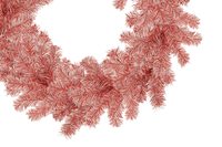 Red and White Tinsel Christmas Wreaths