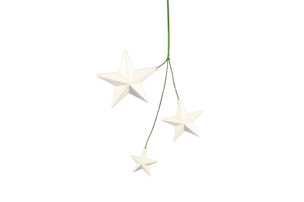 White Star Pick Ornaments