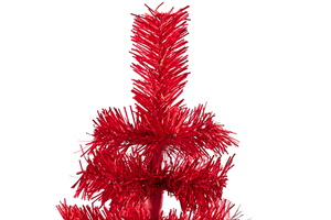 Red Tinsel Christmas Tree