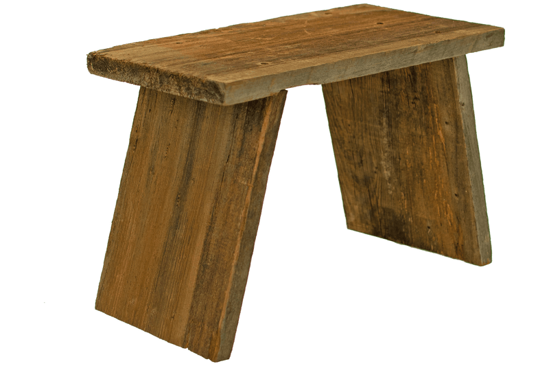 Rustic Redwood Build-Up End Table