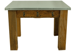 Redwood Patio End Table with Hooks and Hardware sold by Lee Display