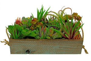 Artificial Succulent Planter Box