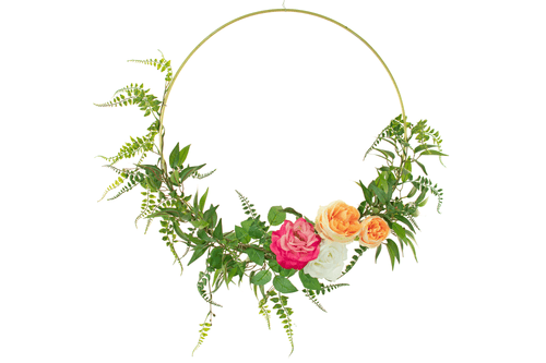 Introducing Lee Display's brand new Seasonal Christmas Wreath!     Decorative 18in Diameter door hanging wreaths made by Lee Display.  With Red, Pink, and White Flowers with Green Ferns, this wreath is perfect for your Seasonal holiday decor.