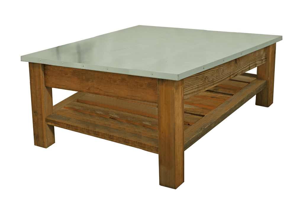 Lee Display's Rustic Redwood Coffee Table on Sale now