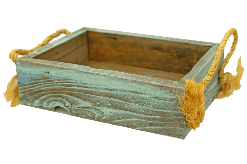 Rustic Redwood Planter Boxes with Rope Handles On Sale from Lee Display