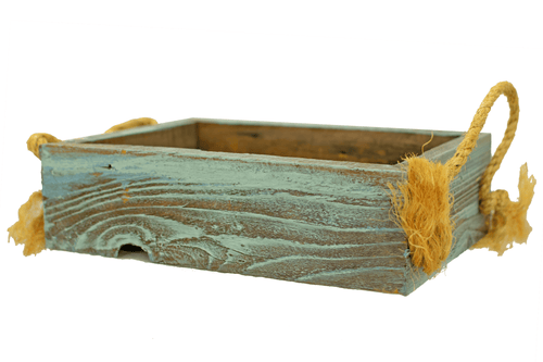 Shop Lee Display Rustic Redwood Planter Boxes with Rope Handles