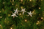 Silver Star Picks Christmas Tree Decorations sold by Lee Display in a pack of 6