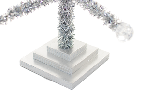 Silver Tinsel Merchandising Tree