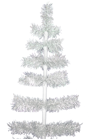 Silver Tinsel Christmas Tree