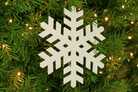 White Glitter Snowflakes Sold by Lee Display in a pack of 3 for your Christmas Tree