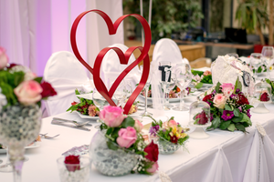 Valentine's Day Double Heart Centerpiece