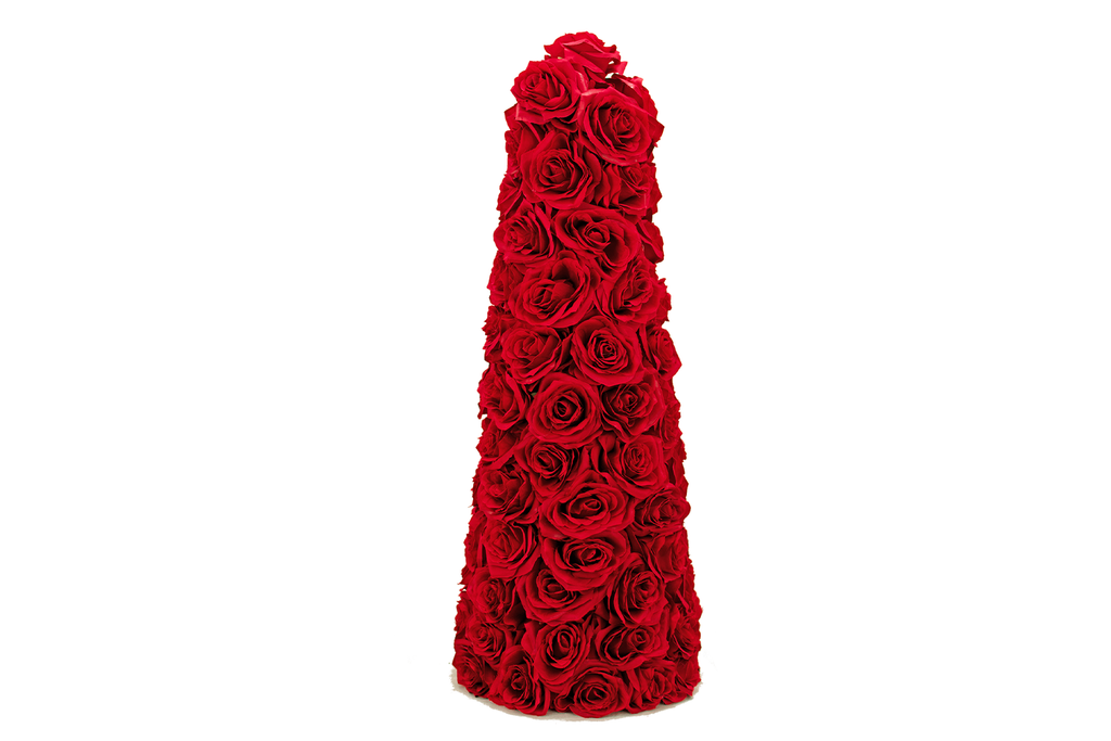 Valentine's Day Red Rosebud Cone Tree
