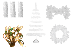 Lee Display has created the perfect Christmas Decoration starter kit!    All your favorite items bundled together by color.  Make your holiday shopping easier than ever by purchasing all your decorations in one simple starter kit in White.