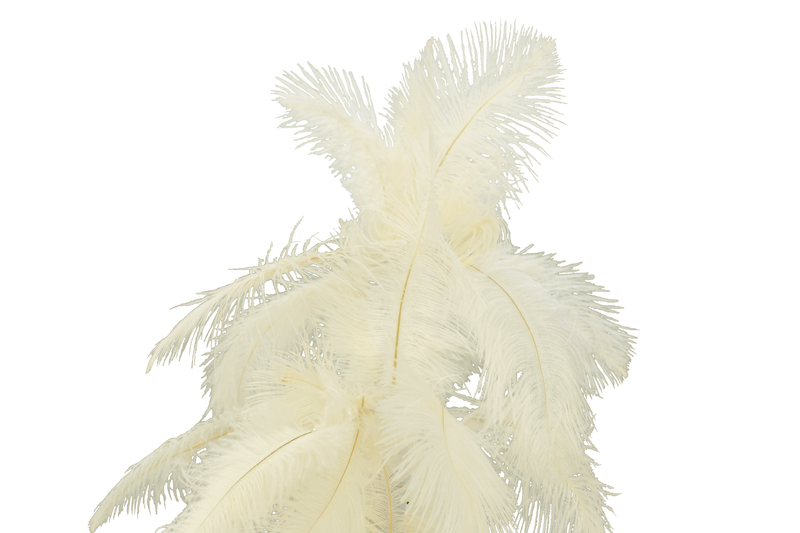 White Ostrich Feather Christmas Tree