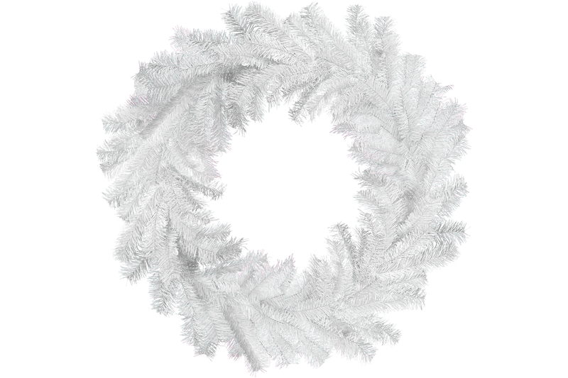 White Tinsel Wreaths