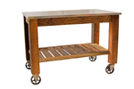 Lee Display's Redwood Rolling Cart with Swivel Cast Iron Casters on sale for $550