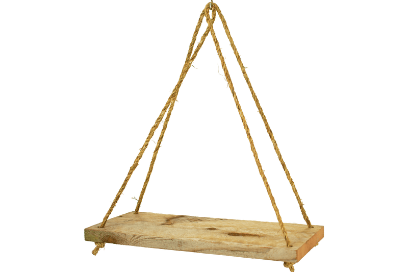 Rope Hanging Wooden Shelves on sale by Lee Display