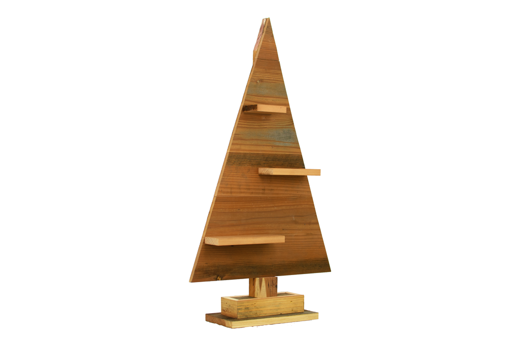 Wood Triangle Retail Merchandising Tree