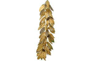 Decorate your homes this holiday season with Lee Display's hand-made 4FT Gold Magnolia Leaf Garland.