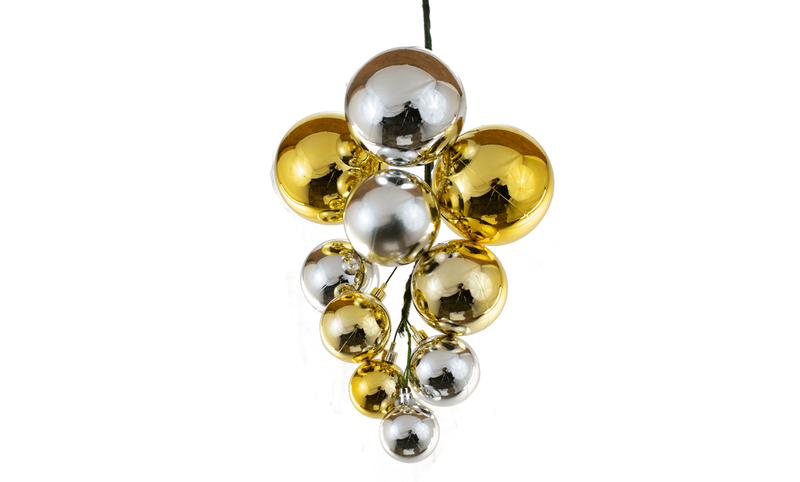 Lee Display Ball Cluster Shiny Gold & Silver Ball Cluster